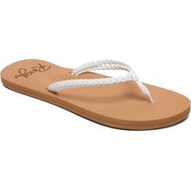 Roxy Costas Sandalen Dames, wit/bruin